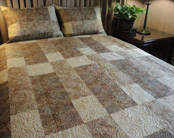 Queen Size Granite & Marble Quilt, Ready To Ship