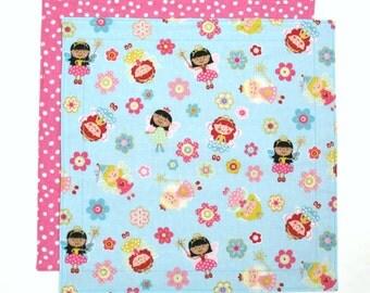 Cloth Lunch Napkin, Kids Napkin, Fabric Napkin, School Lunch Napkin, Fairy Princess Napkin, 1 double sided napkin