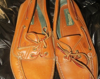 vintage   Dexter Brown Leather Women's Oxford  boat shoes   Loafer womens  Shoes  sz 8 m
