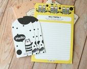02 Beaver Say Hello Cartoon Animals writing paper & envelopes set