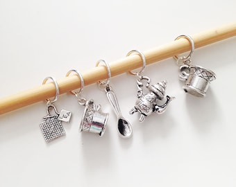 Time for Tea Stitch Markers - Set of 5