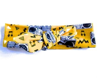 80s Boombox Baby Headband - Top Knot Headband - Stretch Headband - Vintage Style - Hip Hop Baby Modern Baby - Street Style Music