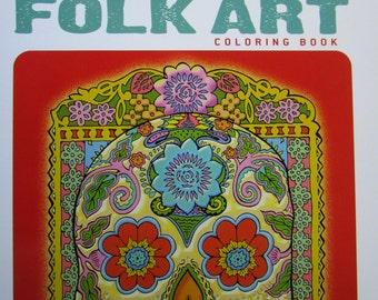 Adult Coloring Book Mexican Folk Art  #18