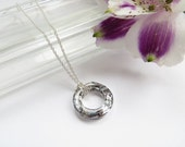 Crystal Circle Necklace In Sterling Silver, Eternity Necklace, Anniversary Necklace, Swarovski Cosmic Ring, Silver Ring
