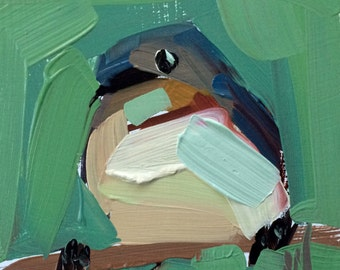 Barn Swallow no. 16 Original Bird Oil Painting by Angela Moulton 4 x 4 inch on Maple Panel pre-order