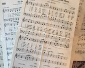 100 Sheets of Vintage Hymnal Pages Hymn Paper Sheet Music Ephemera Scrapbooking Supplies