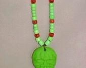 Hand Made Shrunken Head Pendant Necklace