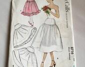 1950s Uncut McCalls Pattern Sewing Pattern Petticoat or Crinoline