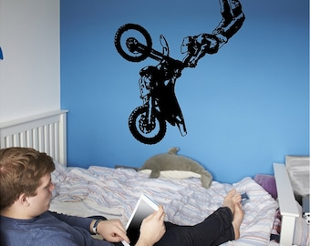 Motocross Decal Removable Motocross Wall Sticker
