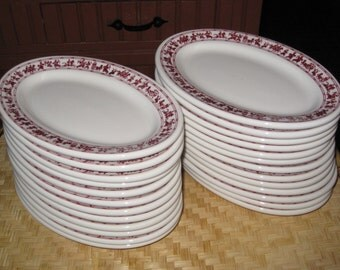 Buffalo China Oval Plates Platters Asian Chinese Battle Chariot 1980 Yet Wah 25 Restaurant Dishes Price Per Plate