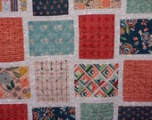 Fleet and Flourish Twin Size Patchwork Quilt - Art Gallery