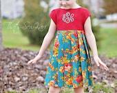 Merry Dress Sewing Pattern, Long Sleeve Dress Pattern, Easy Sewing Pattern, Girls Dress Pattern, Dress Sewing Patern, Holiday Dress Pattern