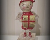 Paper mache Angel ooak doll - folk art papier mache