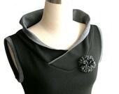 Spring top Vest top. Custom Sleeveless blouse Black hoodie. Sleeveless shirt. Womens top Plus size clothing Hoodie vest