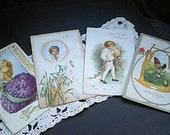 Vintage Easter Postcard Lot, Early 1900s, Chick, Hen Boy, Angel