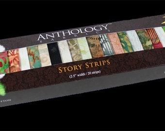 Batik Fabric Story Strips 121