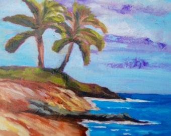 Modern Impressionist Original Oil Painting Kauai Hawaii Landscape by Rebecca Croft