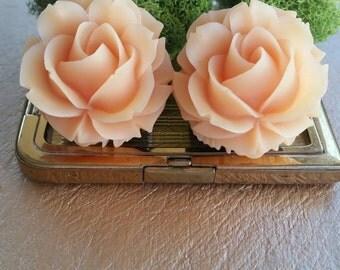 7/8g, Peach Rose, Flower Plugs, Large Wedding Gauges, Large Plugs