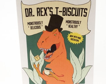 Dr. Rex's T- Biscuits (Tyrannosaurus Rex Tea Biscuit) Card