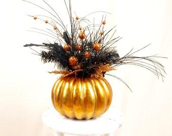Halloween Decoration * Pumpkin Centerpiece * Halloween Centerpiece * Orange Centerpiece * Halloween Pumpkin * Orange Pumpkin Arrangement