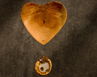 Heart Mobile Sun Catcher Kinetic Art Madrone Wood Sculpture 5th Wedding Anniversary Gift Love Handcrafted in Oregon Brazilian Agate Energy