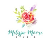Watercolor Logo,  Hand Painted,  Premade Logo Design, Watercolor Flower, Photography Logo, Floral Logo, Watercolor Logo Design, Paint Logo