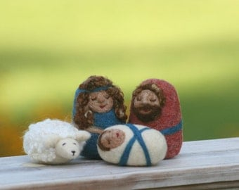 Childs Nativity / Needle Felted Nativity Set