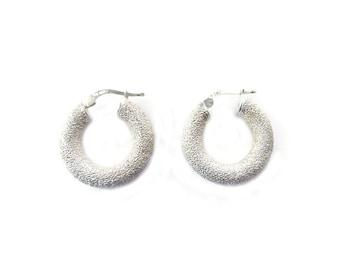 Sterling Silver Milor Italy Hoop Earrings - Sterling 925, Italian Jewelry, Vintage Hoops, Vintage Earrings, Vintage Jewelry