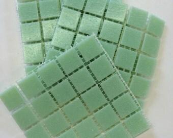 "A21033 3/4"" Pistachio Vitreous Glass Mosaic Tiles-25pc//Mosaic Supplies//Mosaic"