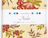 Atelier by 3 Sisters for Moda - 100% Cotton - 42 Square Charm Pack