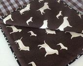 Brown Dog Barking Dog Blankets