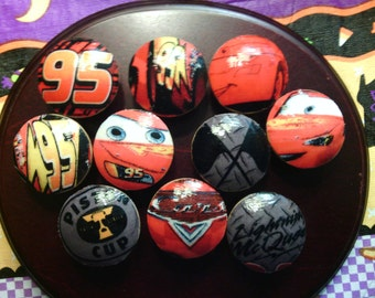 Handmade Knobs Drawer Pull Set of Lightning McQueen Dresser Knob Pulls Switch Plate Covers to Match in Shop