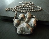 Your Dog Paw Print Necklace. Personalized Jewelry in Fine and Sterling Silver. Gift for Dog Lover