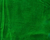 Velours, velours de rayonne de dos de soie teints à la main, lumineux vert