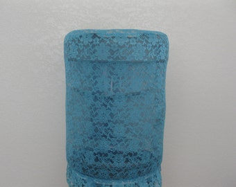 Teal Blue Lace Bottle cover for 5 Gallon standard Size-See through Blue water