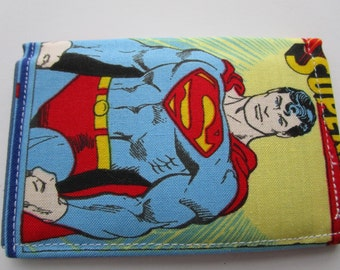 Superman Credit Card Wallet, Superhero DC Comics, Loyalty Card Wallet, Gift Card Wallet, Business Card Wallet, Small Wallet, Bifold Wallet