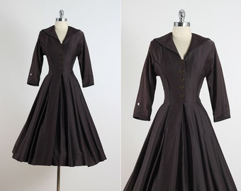 Splendid Day . vintage 1950s dress . vintage dress . 5384