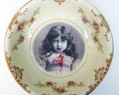 "Portrait Bowl.   Lucy the Zombie Girl Portrait  5.3"""