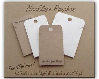 Necklace Pouches, Necklace Pockets, Necklace Envelope, Jewelry Display, Necklace Display, Necklace Holder