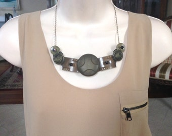 Art Deco Drama button necklace