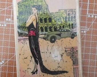 Rome Diva Rubber Stamp by Hampton Art DF4541