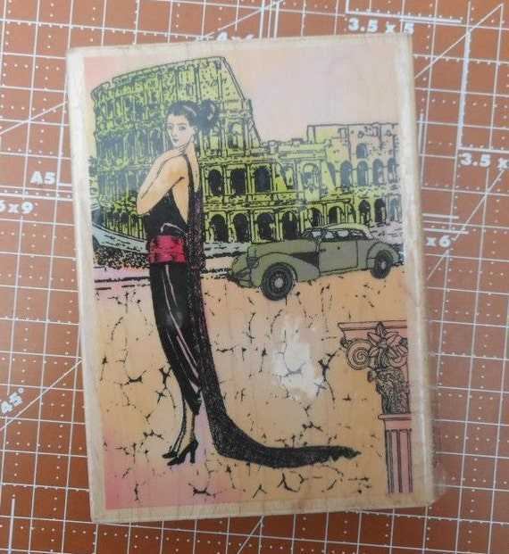 Rome diva rubber stamp by hampton art df4541 from - Diva nails roma ...
