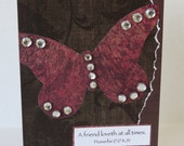 A Friend Loveth At All Times Christian Friendship Card With Scripture And Butterfly