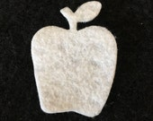 Felt White Apples-DIY Kits for Independent Consultants Parties-Hair Accessories Decorations-Embellishments-Fall Back To School Wax Dipping
