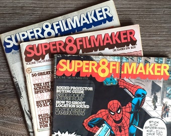 Super 8 Filmaker Magazine - Super8Filmaker - 3 Issues - 1974 - Camera Movie Making Film Making - 1960s 1970s Super 8 Aficionado