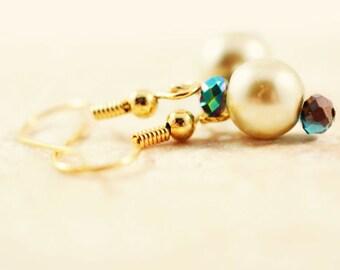 Drop Pearl Earrings, Pearl Wedding Jewelry