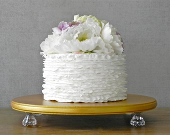 """Gold Cake Stand 12"""" Wedding Bling Cake Stand Gold Cake Topper Wedding Event Decor E. Isabella Designs Featured In Martha Stewart Weddings"""