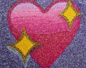 Custom Glitter Emoji Painting