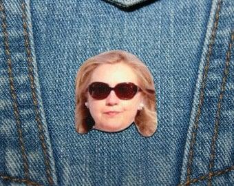 Hillary Clinton Pin, Political Jewelry, President, 2016 Election,Democrat,Brooch