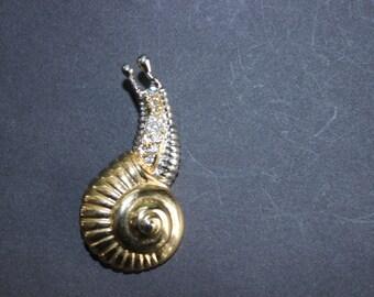 Vintage Snail Pin